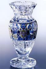 ボヘミアガラス - ラスカ ブルーラスターローズ