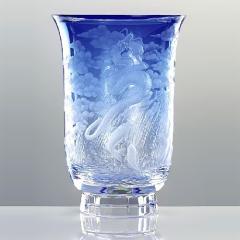 ボヘミアガラス - モーゼル 花瓶