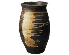 梅雨の季節に - 信楽焼 傘立 壺型・ひねり型