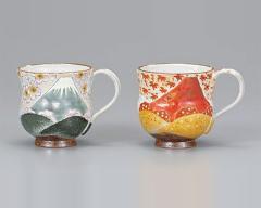 九谷焼 - 日本を代表する伝統工芸品 - ペア・マグカップ