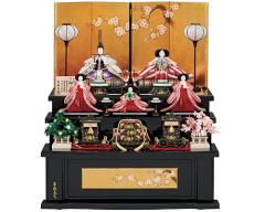 桃の節句に ひな人形 三段飾り - 2013年