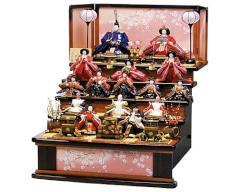 桃の節句に ひな人形 五段・七段飾り - 2013年