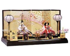 桃の節句に ひな人形 親王飾 (2) - 2013年
