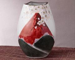九谷焼 - 陶磁器工芸品 - 花瓶 ナツメ型