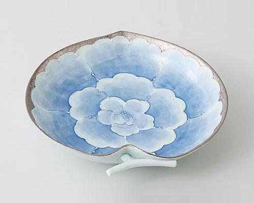 有田焼 文山窯 りんご預け鉢 プラチナ牡丹