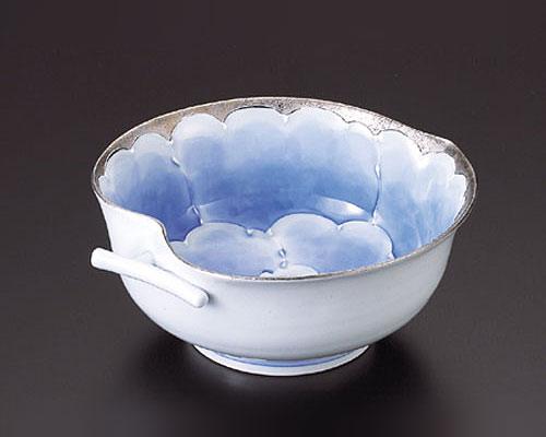 有田焼 文山窯 りんご鉢 プラチナ牡丹