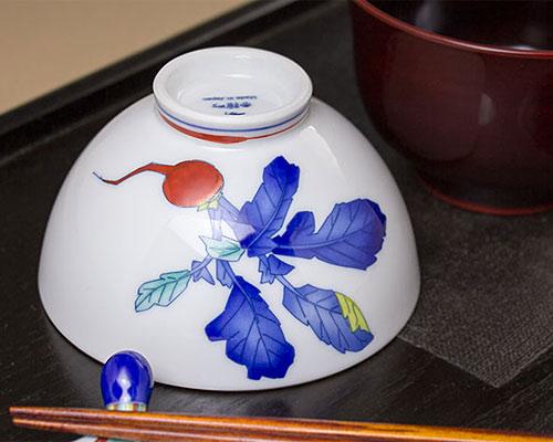 有田焼 香蘭社 飯碗 かぶら