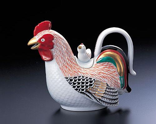 有田焼 林九郎窯 古伊万里 銚子瓶 伊万里雛蓋付鶏