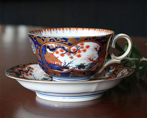 有田焼 賞美堂・其泉窯 紅茶碗皿 琳派古伊万里様式