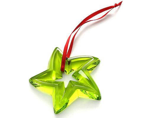 バカラ ノエル クリスマスオーナメント(スター) グリーン