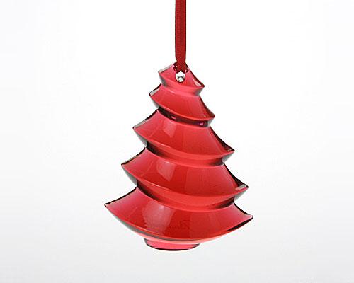 バカラ オブジェ クリスマスオーナメント ツリーレッド