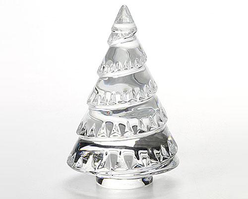 バカラ オブジェ クリスマスツリー クリア 13cm