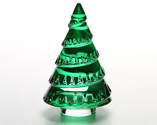 バカラ オブジェ クリスマスツリー グリーン 13cm