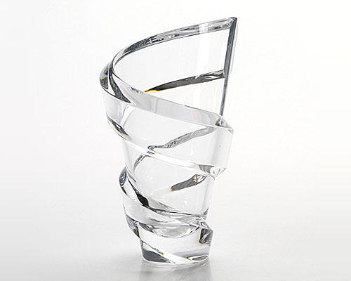 バカラ スパイラル ベース(花瓶) 20cm