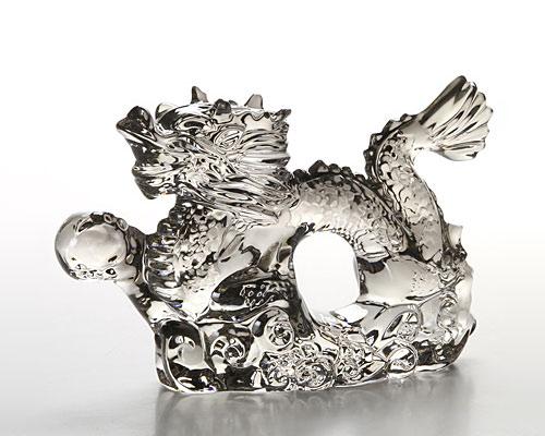 バカラ オブジェ ドラゴン(干支 2012年) シルバー