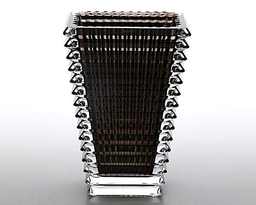 バカラ EYE ベース(花瓶) スクエア グレイ S 20cm