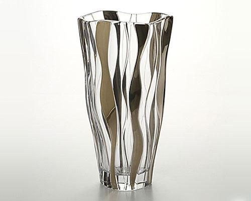 ボヘミアガラス プラチナウェーブ ベース