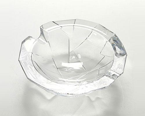 ボヘミアガラス クラック アッシュトレイ