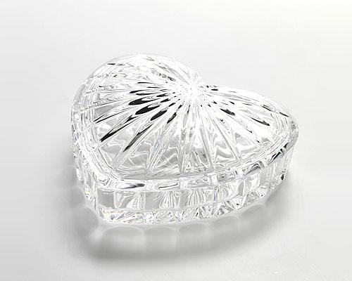 ボヘミアガラス クリスタル マルチボックス ハート