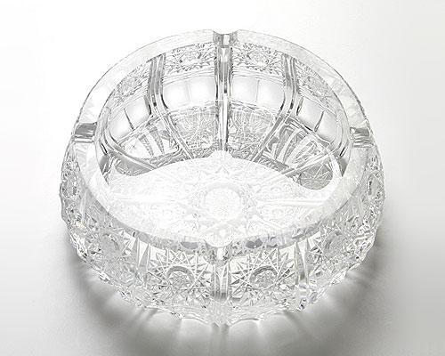 ボヘミアガラス アッシュトレイ 17.5cm
