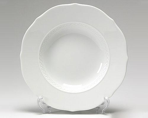 リチャードジノリ ミュージオホワイト スーププレート 24cm