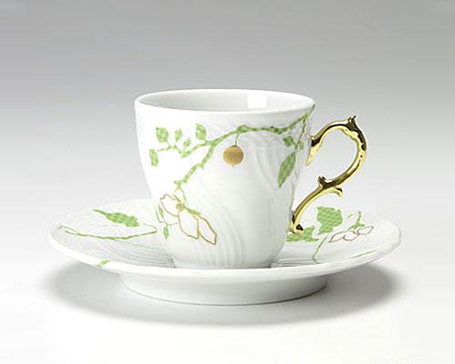 リチャードジノリ フィオーリ ヴェルディ コーヒーカップ&ソーサー