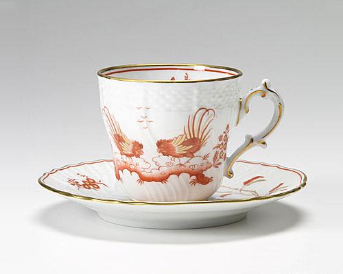 リチャードジノリ レッドコック コーヒーカップ&ソーサー
