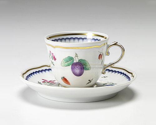 リチャードジノリ イタリアンフルーツ コーヒーカップ&ソーサー