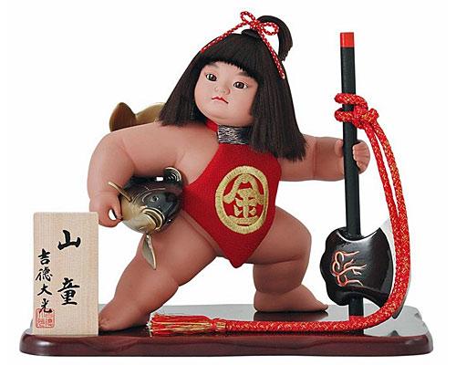 五月人形 武者人形飾り 吉徳大光作 金太郎10号山童
