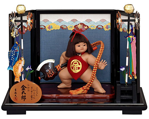 五月人形 武者人形 吉徳大光作 お山の大将床飾り