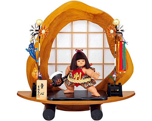 五月人形 武者人形 子供大将 吉徳大光作 お山の大将床飾り