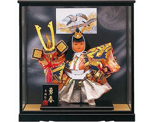 五月人形 武者人形 新勇春10号 お祝いケース