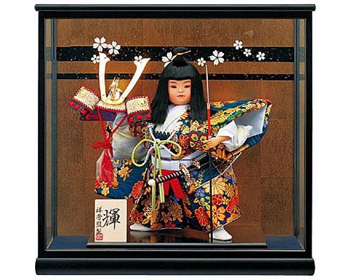 五月人形 武者人形 輝8号 お祝いケース