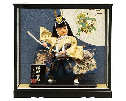 五月人形 武者人形 風神雷神8号 お祝いケース