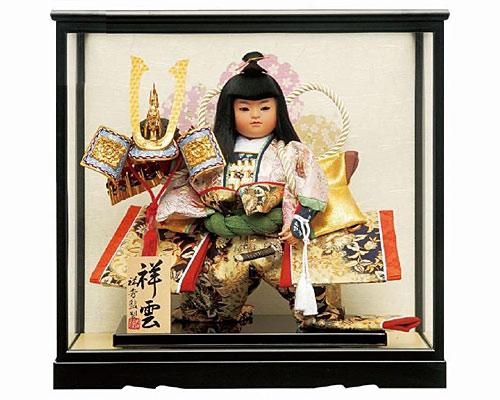 五月人形 武者人形 祥雲7号 お祝いケース