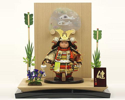 五月人形 武者人形 名匠・公司作 子供大将 ミニ健