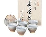 萩焼 天龍窯 茶器揃 茶コシ付 木箱入