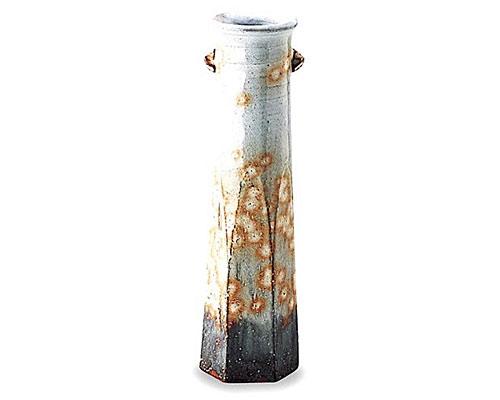 萩焼 花瓶 御本手花生 納富鳥雲作 木箱付