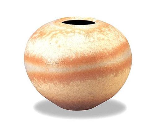萩焼 花瓶 御本手平壷 木箱付