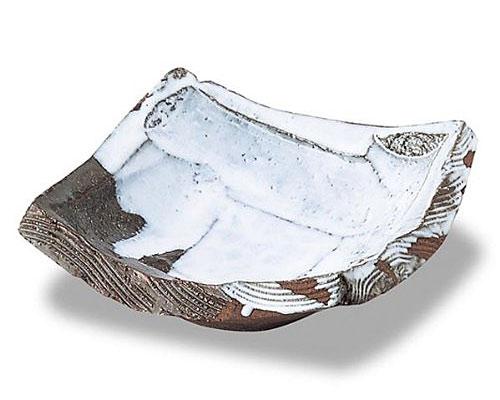萩焼 鉢 刳り貫き四方鉢 田中講平作 木箱付