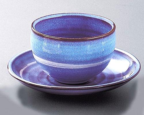 萩焼 碗皿 紫色碗皿 恵作 化粧箱付