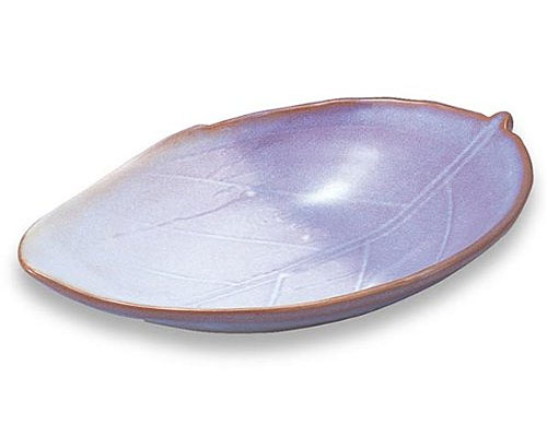 萩焼 皿 藤むらさき葉皿 化粧箱付