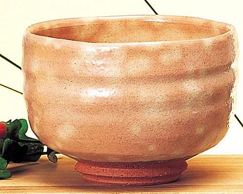 萩焼 抹茶碗 御本手楽型 椿秀作 化粧箱付
