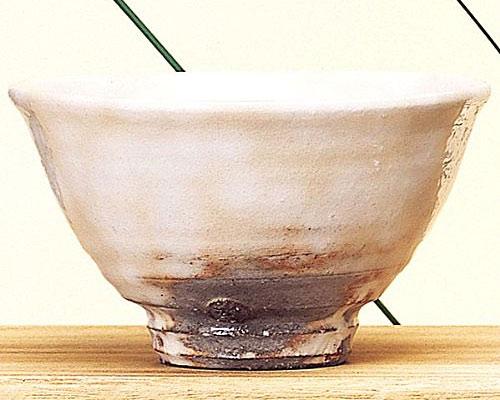 萩焼 抹茶碗 粉引き井戸型 竹下敬三作 桐箱付
