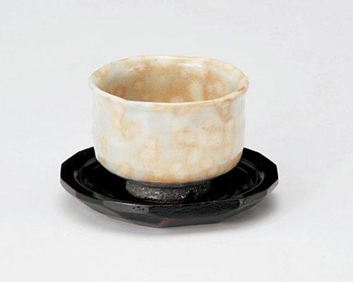 萩焼 碗皿 原節夫 萩御本手いっぷく碗 木皿付