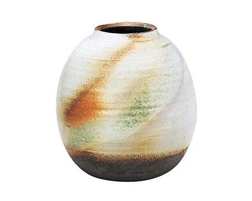 萩焼 花瓶 山根清玩 三彩