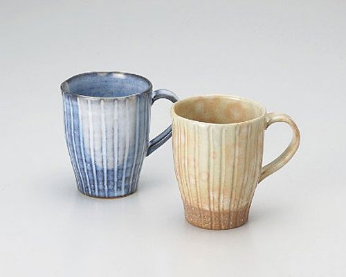 萩焼 マグカップ 孝彩窯 色変り ペアマグ