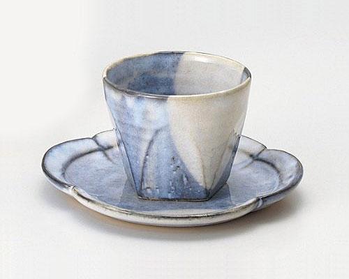 萩焼 碗皿 孝彩窯 青萩釉 面取碗皿