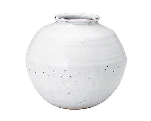 萩焼 花瓶 服部秀水 白萩 肩衝壺