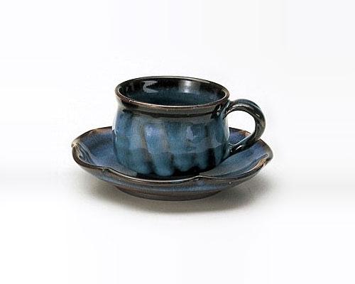 萩焼 碗皿 光彩庵 藍流
